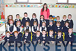 BACK TO SCHOOL: Miss Marguerite Ronan junior infants class from Abbeydorney NS enjoying their first day of school on Monday front l-r: Michael Duffy, Sean Stack, Patrick Skinner-Ross, Saimon Doboszyski, Luke Fitzmaurice, Bobby Fitzpatrick, Cian Mangan and Ava Lyons. Centre l-r: Amy Cronin, Eva Costello, Laila Collins, Lisa Slattery, Kaithlyn O'Connell, Caoimhe Healy, Rebecca O'Mahony and Rebecca O'Dowd. Back l-r: Megan O'Leary, Ben Moore, Tadgh Costello, Sonny Ryall, Faye Courtney, Miss Marguerite Ronan, Hanna Benson, Euan Goodard, Dylan Stack and Zack Hayes.