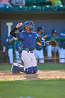 Ramon Rodriguez (7) of the Ogden Raptors during the game against the Idaho Falls Chukars at Lindquist Field on August 9, 2019 in Ogden, Utah. The Raptors defeated the Chukars 8-3. (Stephen Smith/Four Seam Images)