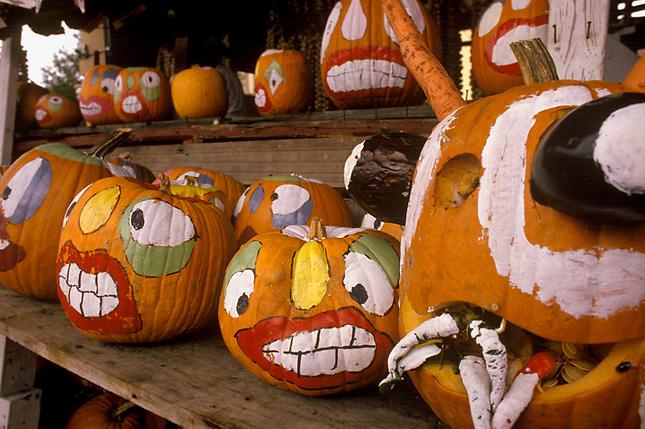 Cajin style pumpkin decorations