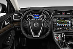 Car pictures of steering wheel view of a 2018 Nissan Maxima Platinum 4 Door Sedan Steering Wheel