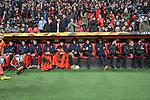08.11.2018, BayArena, Leverkusen, Europaleque, Vorrunde, GER, UEFA EL, Bayer 04 Leverkusen (GER) vs. FC Zuerich (SUI),<br />  <br /> DFL regulations prohibit any use of photographs as image sequences and/or quasi-video<br /> <br /> im Bild / picture shows: <br /> die Leverkusener Bank <br /> <br /> Foto &copy; nordphoto / Meuter<br /> <br /> <br /> <br /> Foto &copy; nordphoto / Meuter