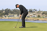 Jason Day (AUS) putts on the 7th green during Sunday's Final Round of the 2018 AT&amp;T Pebble Beach Pro-Am, held on Pebble Beach Golf Course, Monterey,  California, USA. 11th February 2018.<br /> Picture: Eoin Clarke | Golffile<br /> <br /> <br /> All photos usage must carry mandatory copyright credit (&copy; Golffile | Eoin Clarke)