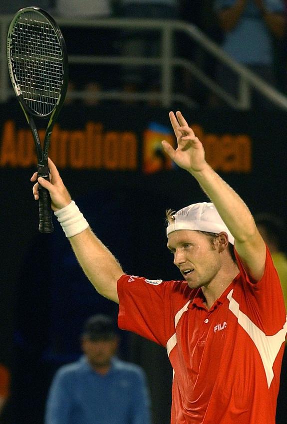 Australian Open Tennis 2003.24/01/2003.Rainer Schuettler V Andy Roddick.Rainer Schuettler