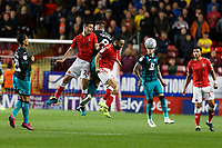 Josh Cullen of Charlton Athletic battles with Matt Grimes of Swansea City during the Sky Bet Championship match between Charlton Athletic and Swansea City at The Valley, London, England, UK. Wednesday 02 October 2019