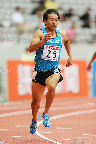 Yusuke Ishizuka (JPN), <br /> June 7, 2013 - Athletics : <br /> The 97th Japan Athletics National Championships, Men's 400m Heat <br /> at Ajinomoto Stadium, Tokyo, Japan. <br /> (Photo by Daiju Kitamura/AFLO SPORT)