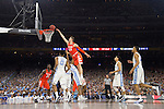 02 APR 2016:  Tyler Lydon (20) of Syracuse University drives against the University of North Carolina during the NCAA Division I Men's Final Four held at NRG Stadium in Houston, TX.  North Carolina defeated Syracuse 83-66 to advance to the finals.  Jamie Schwaberow/NCAA Photos