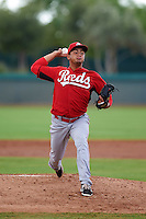 Cincinnati Reds pitcher Adrian Rodriguez (76) during an instructional league game against the Los Angeles Dodgers on October 20, 2015 at Cameblack Ranch in Glendale, Arizona.  (Mike Janes/Four Seam Images)