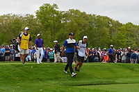 Brooks Koepka (USA) and Harold Varner III (USA) head down 6 during round 4 of the 2019 PGA Championship, Bethpage Black Golf Course, New York, New York,  USA. 5/19/2019.<br /> Picture: Golffile | Ken Murray<br /> <br /> <br /> All photo usage must carry mandatory copyright credit (© Golffile | Ken Murray)