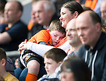St Johnstone v Dundee United...19.04.14    SPFL<br /> All toom much for one young Dundee Utd fan<br /> Picture by Graeme Hart.<br /> Copyright Perthshire Picture Agency<br /> Tel: 01738 623350  Mobile: 07990 594431