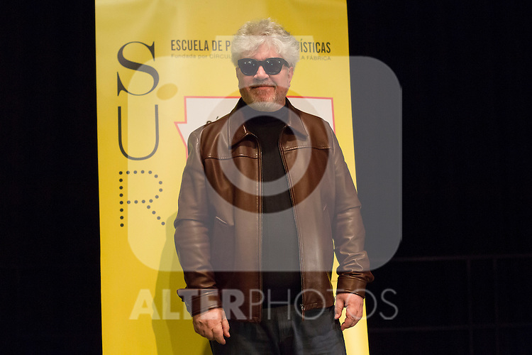 Spanish film director, screenwriter and producer Pedro Almodovar during a conference at Circulo de Bellas Artes in Madrid, Spain. January 13, 2016. (ALTERPHOTOS/Victor Blanco)