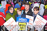 Maura Fitzpatrick, Brandon, Siobhan Diggin, Lixnaw, Joe Horgan, Kenmare and Christina Murphy, Tralee Student nurses from the IT Tralee protesting at Wage cuts for Nurses in Tralee on Monday afternoon.