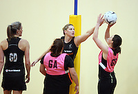 Silver Fern's Te Huinga Reo Selby-Rickit training for the New World Netball Series match, Wallacetown Stadium, Invercargill, New Zealand, Saturday, September 14, 2013. ©MBPHOTO/Dianne Manson Michael Bradley Photography