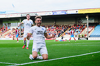 Peterborough United's Matthew Godden celebrates scoring his side's second goal<br /> <br /> Photographer Chris Vaughan/CameraSport<br /> <br /> The EFL Sky Bet League One - Scunthorpe United v Peterborough United - Saturday 13th October 2018 - Glanford Park - Scunthorpe<br /> <br /> World Copyright &copy; 2018 CameraSport. All rights reserved. 43 Linden Ave. Countesthorpe. Leicester. England. LE8 5PG - Tel: +44 (0) 116 277 4147 - admin@camerasport.com - www.camerasport.com