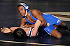 Sean Carter of North Babylon, top, controls Sean Flick of Huntington at 99 pounds in the opening round of the Suffolk County varsity wrestling championship at North Babylon High School on Wednesday, Jan. 27, 2016. Carter won by pin at the 1:38 mark.