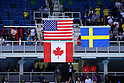 General view, <br /> AUGUST 11, 2016 - Swimming : <br /> Women's 100m Freestyle Medal Ceremony  <br /> at Olympic Aquatics Stadium <br /> during the Rio 2016 Olympic Games in Rio de Janeiro, Brazil. <br /> (Photo by Yohei Osada/AFLO SPORT)