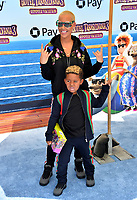 "Amber Rose & Sebastian Taylor Thomaz at the world premiere for ""Hotel Transylvania 3: Summer Vacation"" at the Regency Village Theatre, Los Angeles, USA 30 June 2018<br /> Picture: Paul Smith/Featureflash/SilverHub 0208 004 5359 sales@silverhubmedia.com"