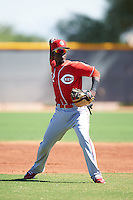 Cincinnati Reds Hector Vargas (52) during an Instructional League game against the Texas Rangers on October 4, 2016 at the Surprise Stadium Complex in Surprise, Arizona.  (Mike Janes/Four Seam Images)
