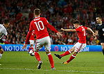 Ben Woodburn of Wales scores the first goal during the World Cup Qualifying Group D match at the Cardiff City Stadium, Cardiff. Picture date 2nd September 2017. Picture credit should read: Simon Bellis/Sportimage