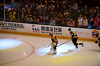 June 6, 2019: Boston Bruins goaltender Tuukka Rask (40) and defenseman Zdeno Chara (33) take the ice for game 5 of the NHL Stanley Cup Finals between the St Louis Blues and the Boston Bruins held at TD Garden, in Boston, Mass. The Blues defeat the Bruins 2-1 in regulation time. Eric Canha/CSM