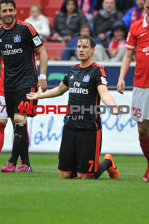 03.05.2015, cofacearena, Mainz, GER, FSV Mainz 05 vs. Hamburger SV, im Bild: Marcell Jansen (#7, Hamburger SV)<br /> <br /> Foto &copy; nordphoto / Fabisch