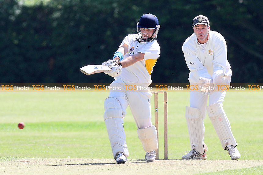 Colin Sher of Harold Wood on his way to a century - Gidea Park & Romford CC vs Harold Wood CC - Essex Cricket League at Harrow Lodge - 26/05/12 - MANDATORY CREDIT: Gavin Ellis/TGSPHOTO - Self billing applies where appropriate - 0845 094 6026 - contact@tgsphoto.co.uk - NO UNPAID USE.