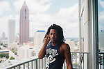 Atlanta rapper Ca$h Out seen in his condo June 15, 2012.