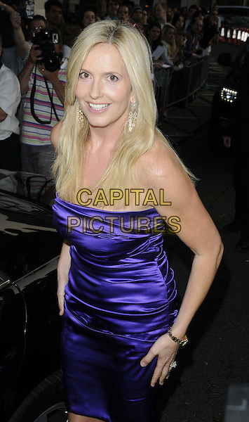 Penny Lancaster Stewart.The Glamour Women Of The Year Awards 2012, Berkeley Square Gardens, Berkeley Square, London, England..May 29th, 2012.half length purple dress strapless silk satin .CAP/CAN.©Can Nguyen/Capital Pictures.