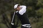JEJU, SOUTH KOREA - APRIL 22:  Pablo Martin of Spain tees off on the 14th hole during the Round One of the Ballantine's Championship at Pinx Golf Club on April 22, 2010 in Jeju island, South Korea. Photo by Victor Fraile / The Power of Sport Images