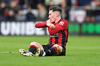 Injury concern for Harry Wilson of Bournemouth during AFC Bournemouth vs Watford, Premier League Football at the Vitality Stadium on 12th January 2020