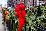 Christmas decorations in the Back Bay neighborhood, Boston, Massachusetts, USA