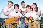 Taking part in the music marathon in St Michael's Church, Killorglin on Saturday in aid of the church and the KDYS were Amy Kelly, Cian O'Mahony, Patrick Buckley, Liam Fleming and Lavina O'Shea. ......................