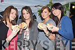 BURGERS: Eating some homemade bugers at the Fine Gaeil Bar B Que night at O'Riada on Friday night, l;-r: Louise Moriarty,Helen Griffin, Hazel Mooney and Kelly Griffin...