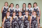 St Pauls team that played St Annes in the u14 final at the  County basketball finals in Killarney on Sunday front row l-r: Deidre Lyne, Lyselle O'Shea, treasa O'Sullivan, Ava Docherty. Back row: julie Delaney, Isabelle Murphy, Evie Culloty, Ava Sheehan Leah Burke, Tara Murphy