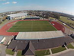 Aerial view of Newport Sports Village..31.03.13.©Steve Pope