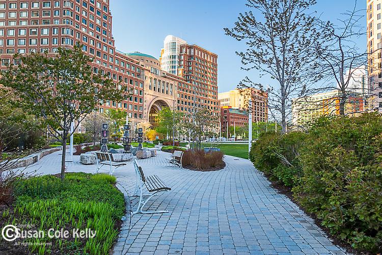 The Rose Fitzgerald Kennedy Greenway, Boston, Massachusetts, USA