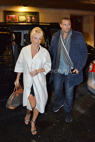 Pamela Anderson is seen outside Berns hotel in Stockholm, 23.102.014. Credit: EPS/insight media /MediaPunch ***FOR USA ONLY***
