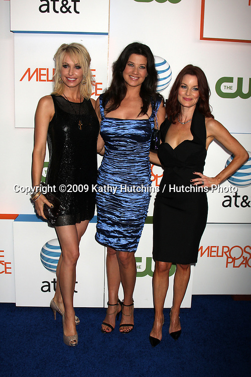 Josie Bissett, Daphne Zuniga and Laura Leighton  arriving at  Melrose Place Premiere Party on Melrose Place, in  Los Angeles, CA on August 22, 2009.©2009 Kathy Hutchins / Hutchins Photo.