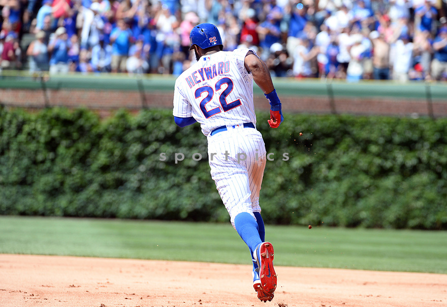 Chicago Cubs Jason Heyward (22) during a game against the Los Angeles Dodgers on June 2, 2016 at Wrigley Field in Chicago, IL. The Cubs beat the Dodgers 7-2.