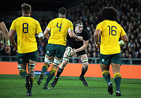 Brodie Retallick in action during the Rugby Championship and Bledisloe Cup rugby match between the New Zealand All Blacks and Australia Wallabies at Forsyth Barr Stadium in Dunedin, New Zealand on Saturday, 26 August 2017. Photo: Dave Lintott / lintottphoto.co.nz
