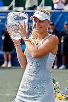 April 11, 2010:  MPS Group Championships.  Caroline Wozniacki (DEN) displays the winning trophy of finals singles action at the MPS Group Championships played at the Sawgrass Country Club in Ponte Vedra, Florida.  Caroline Wozniacki (DEN) defeated Olga Govortsova (BLR) 6-2, 7-5 to win the tournament for the second consecutive year..