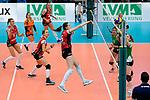 04.02.2018, Halle Berg Fidel, Muenster<br />Volleyball, Bundesliga Frauen, Normalrunde, USC MŸnster / Muenster vs. MTV Allianz Stuttgart<br /><br />Angriff Mallory Grace McCage (#5 Stuttgart)<br /><br />  Foto &copy; nordphoto / Kurth