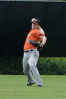 Houston Astros outfielder Ryan Bottger (90) during practice before an Instructional League game against the Atlanta Braves on September 22, 2014 at the ESPN Wide World of Sports Complex in Kissimmee, Florida.  (Mike Janes/Four Seam Images)