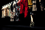 October 18, 2012, Tokyo, Japan - Mannequins are displayed on the catwalk wearing ''motonori ono'' during Mercedes-Benz Fashion Week Tokyo 2013 Spring/Summer. The Mercedes-Benz Fashion Week Tokyo runs from October 13-20. (Photo by Yumeto Yamazaki/AFLO)