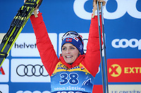 31st December 2019; Dobbiaco, Toblach, South Tyrol, Italy;  FIS Tour de Ski - Cross Country Ski World Cup 2019  in Dobbiaco, Toblach, on December 31, 2019; Womens individual 10km, Therese Johaug of Norway on the podium