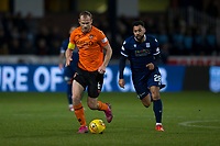 8th November 2019; Dens Park, Dundee, Scotland; Scottish Championship Football, Dundee Football Club versus Dundee United; Mark Reynolds of Dundee United breaks away from Kane Hemmings of Dundee  - Editorial Use