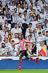 Inaki Williams Arthuer of Athletic Club de Bilbao celebrates during the La Liga 2017-18 match between Real Madrid and Athletic Club Bilbao at Estadio Santiago Bernabeu on April 18 2018 in Madrid, Spain. Photo by Diego Souto / Power Sport Images