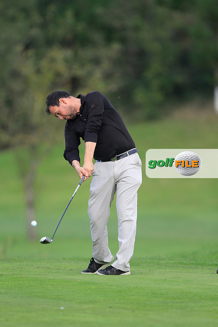 James Quinlivan (Mullingar G.C) on the 16th tee during Round 2 of The Cassidy Golf 103rd Irish PGA Championship in Roganstown Golf Club on Friday 11th October 2013.<br /> Picture:  Thos Caffrey / www.golffile.ie