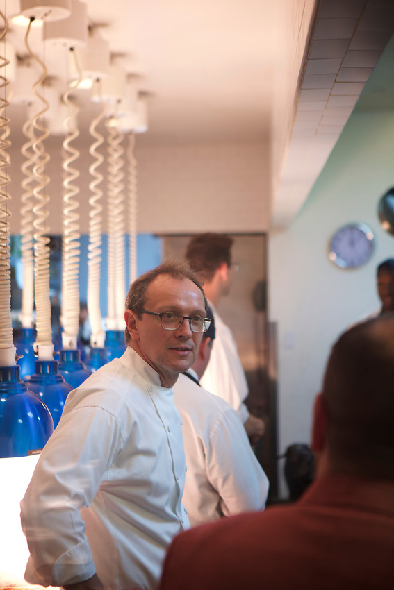 NEW YORK, NY - May 26, 2017: Visiting Oceana with New Jersey-raised Chef Bill Telepan.<br /> <br /> Credit: Clay Williams for Edible Jersey.<br /> <br /> &copy; Clay Williams / http://claywilliamsphoto.com