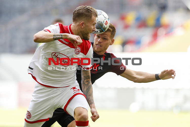 Andre Hoffmann (F95), Florian Niederlechner (FCA)<br /><br />Fussball 1. Bundesliga, 33.Spieltag, Fortuna Duesseldorf (D) -  FC Augsburg (A), am 20.06.2020 in Duesseldorf/ Deutschland. <br /><br />Foto: AnkeWaelischmiller/Sven Simon/ Pool/ via Meuter/Nordphoto<br /><br /># Editorial use only #<br /># DFL regulations prohibit any use of photographs as image sequences and/or quasi-video #<br /># National and international news- agencies out #