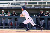CARY, NC - FEBRUARY 23: Ryan Ford #7 of Penn State University hits the ball during a game between Wagner and Penn State at Coleman Field at USA Baseball National Training Complex on February 23, 2020 in Cary, North Carolina.